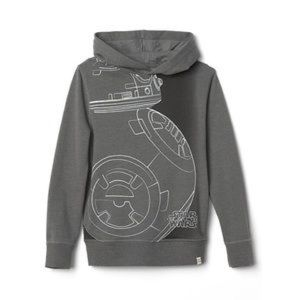 Gap Star Wars hoodie with BB8 Droid graphic grey